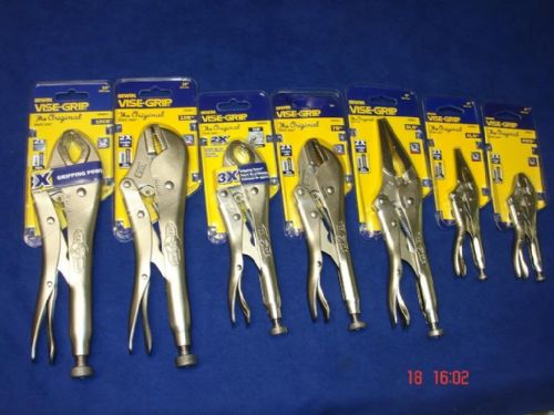 Irwin Vise Grip Locking Plier Cutter Set of 7 ViseGrip Mole Grip 10R 10CR 7CR